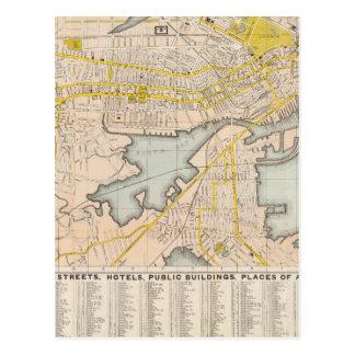 Map Of Boston Postcard