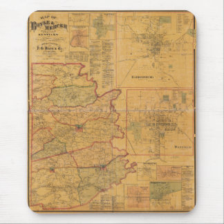 Map of Boyle and Mercer Counties Kentucky (1876) Mouse Pad