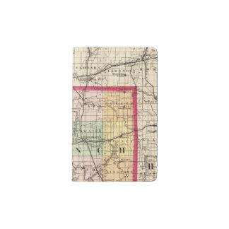 Map of Branch County, Michigan Pocket Moleskine Notebook