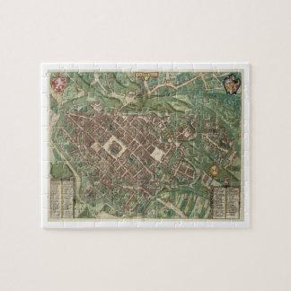 Map of Bratislava, from 'Civitates Orbis Terrarum' Puzzle