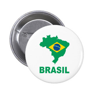 Map Of Brazil 2 Inch Round Button