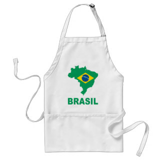 Map Of Brazil Aprons