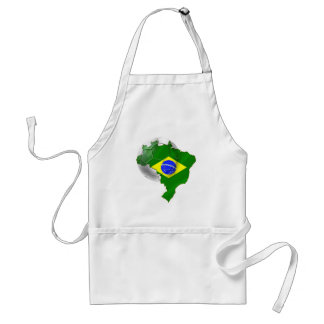 Map of Brazil flag Soccer  ball tees and gifts Apron