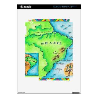 Map of Brazil iPad 3 Skin