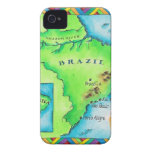 Map of Brazil iPhone 4 Case-Mate Cases