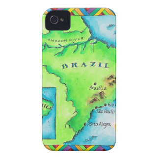 Map of Brazil iPhone 4 Cover