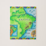Map of Brazil Jigsaw Puzzle