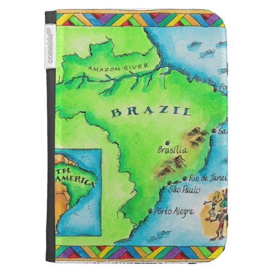 Map of Brazil Kindle Cover