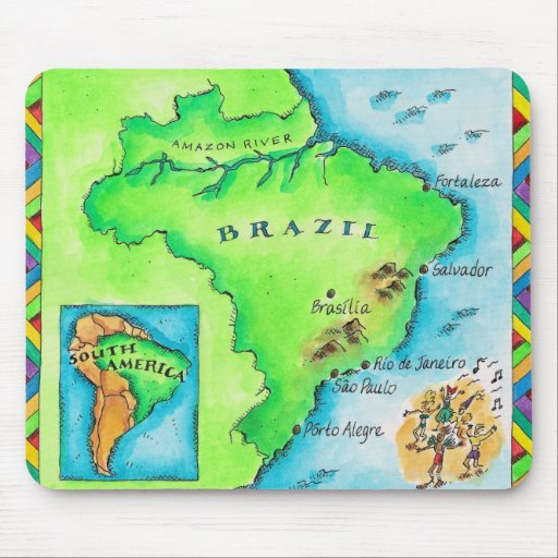 Map of Brazil Mouse Pad