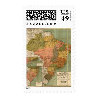 Map of Brazil Stamps