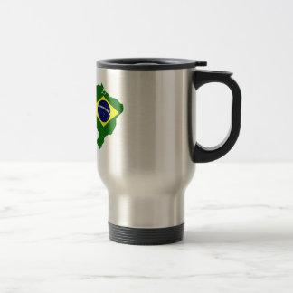 Map of Brazil Travel Mug