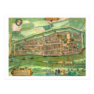 Map of Bremen from Civitates Orbis Terrarum by Post Card