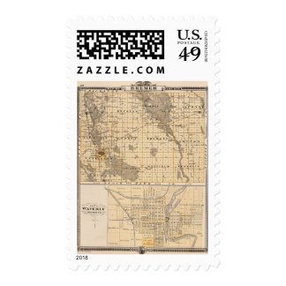 Map of Bremer County Postage