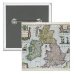 Map of Britain, 1631 2 Inch Square Button