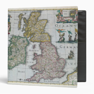 Map of Britain, 1631 3 Ring Binder