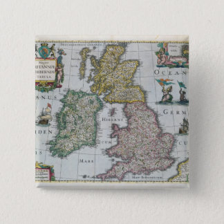Map of Britain, 1631 Button