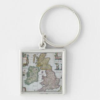 Map of Britain, 1631 Keychain