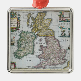 Map of Britain, 1631 Metal Ornament