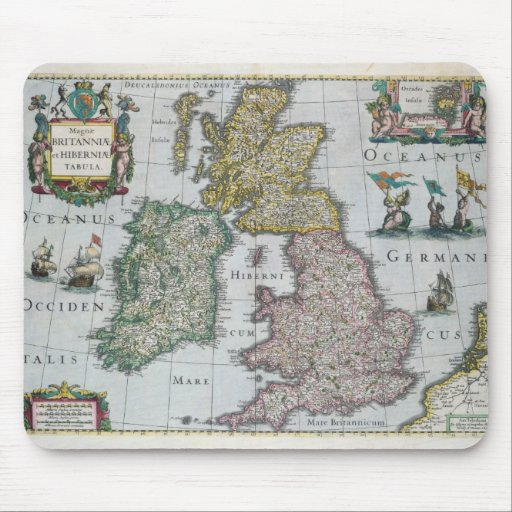 Map of Britain, 1631 Mouse Pad
