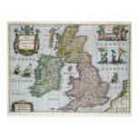 Map of Britain, 1631 Postcard
