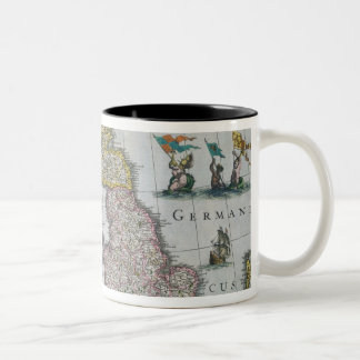 Map of Britain, 1631 Two-Tone Coffee Mug