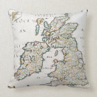 Map of Britain and Ireland, published Paris 1640 ( Pillow