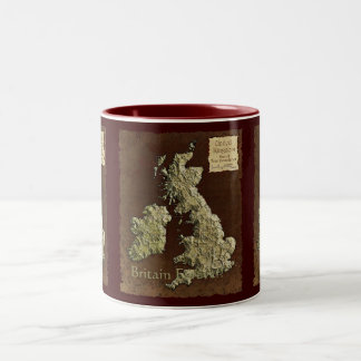 MAP OF BRITAIN Collection Two-Tone Coffee Mug