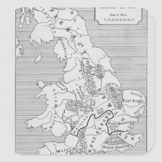 Map of Britain produced by Stanford's Square Sticker