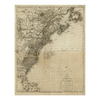 Map of British Colonies by John Andrews (1777) Poster