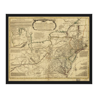 Map of British Colonies in America (1771) Canvas Print