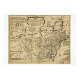 Map of British Colonies in America (1771) Card