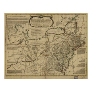 Map of British Colonies in America (1771) Poster