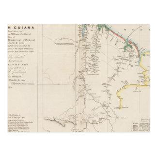 Map of British Guiana Postcard