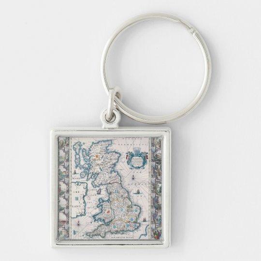 Map of British Isles 2 Keychain