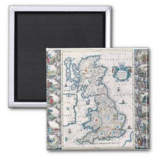 Map of British Isles 2 Fridge Magnets