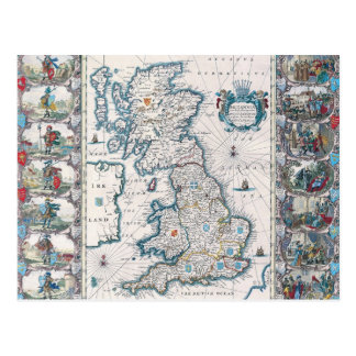 Map of British Isles 2 Postcards