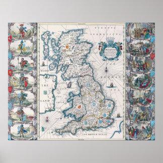 Map of British Isles 2 Poster