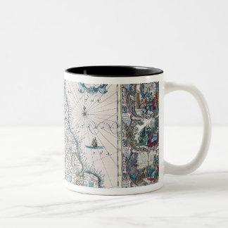Map of British Isles 2 Two-Tone Coffee Mug