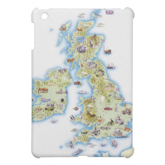 Map of British Isles Cover For The iPad Mini