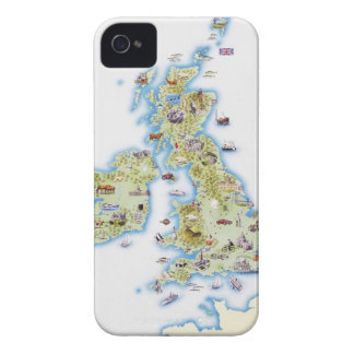 Map of British Isles iPhone 4 Case