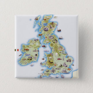 Map of British Isles Pinback Button