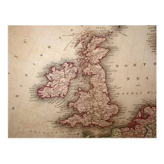 Map of British Isles Postcard