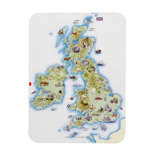 Map of British Isles Rectangular Magnet