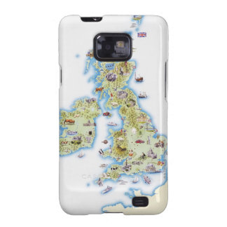 Map of British Isles Samsung Galaxy Covers