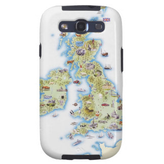 Map of British Isles Samsung Galaxy S3 Covers
