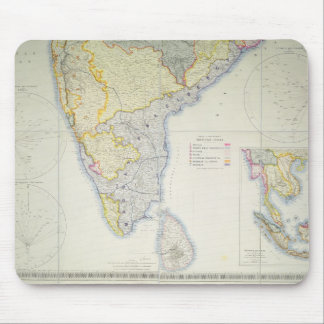 Map of British Southern India, 1872 Mouse Pad