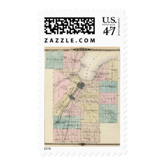 Map of Brown County, State of Wisconsin Postage