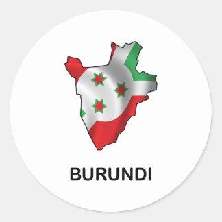 Map Of Burundi Classic Round Sticker