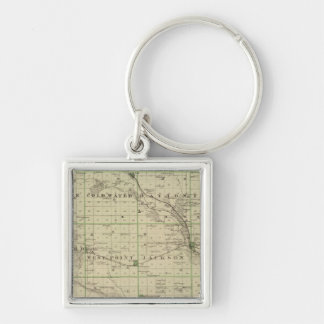 Map of Butler County, State of Iowa Keychain