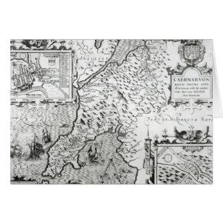 Map of Caernarvon, 1616 Card